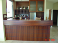 Bar cabinets using Jarrah veneer & solid timber