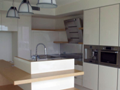 2Pak & veneer kitchen with island