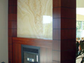 Jarrah & Backlit Onyx Fireplace