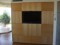 Timber Veneer TV Cabinet with Alternating Grain Directions