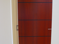 Jarrah Door with Black Routered Slots