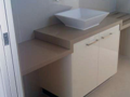 2Pak & Ceasarstone vanity with towel rails through stone top