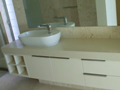 2Pak vanity with mitred front on Ceasarstone benchtop