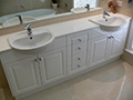 2Pak vanity with routered doors and Ceasarstone benchtop